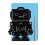 Scratch Art Robot Card