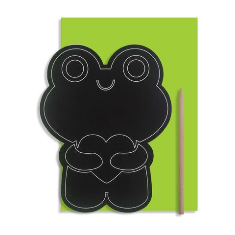 Scratch Art Frog Card