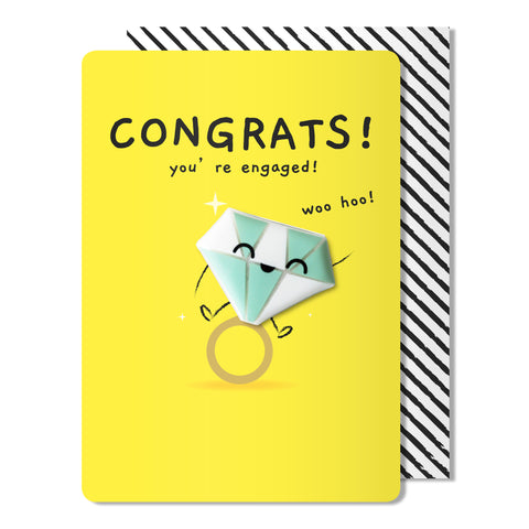 Congrats Your Engaged Magnet Card