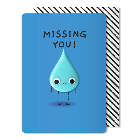 Missing You Tear Magnet Card