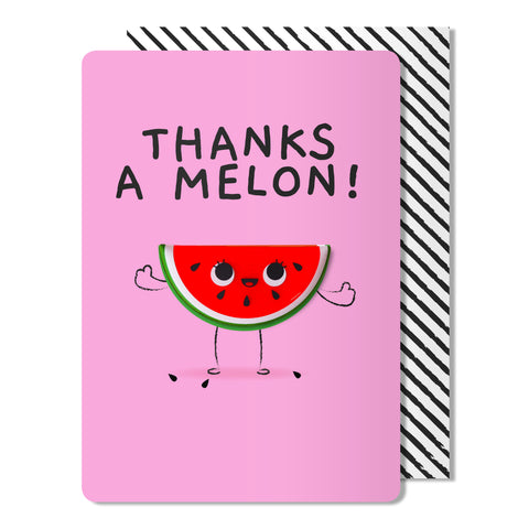 Thanks a melon Magnet Card