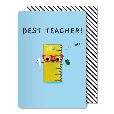 Best Teacher Magnet Card