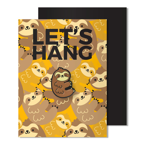 Enamel Sloth Pin Card