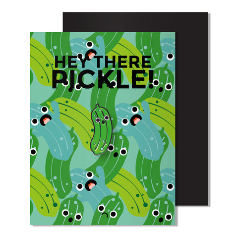 Enamel Pickle Pin Card
