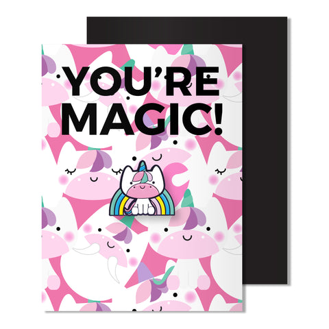 Enamel Unicorn Pin Card