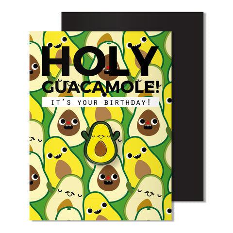 Enamel Avocado Pin Card