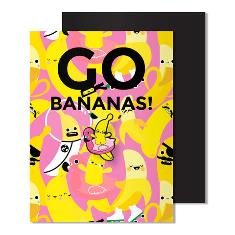 Enamel Banana Pin Card