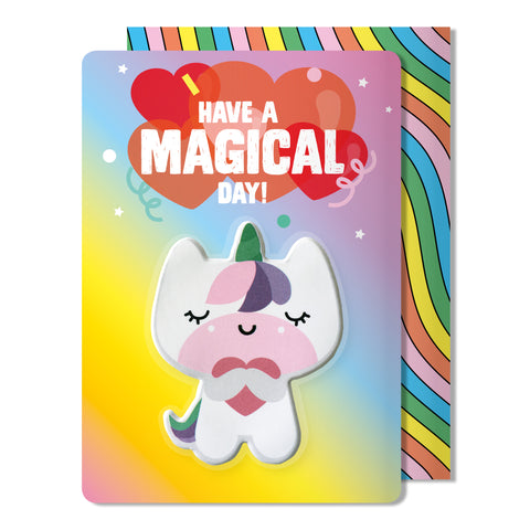 Unicorn Puffy Sticker Birthday Card