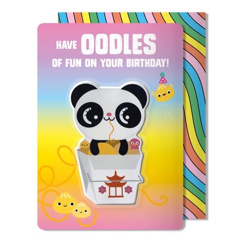 Panda Puffy Sticker Birthday Card