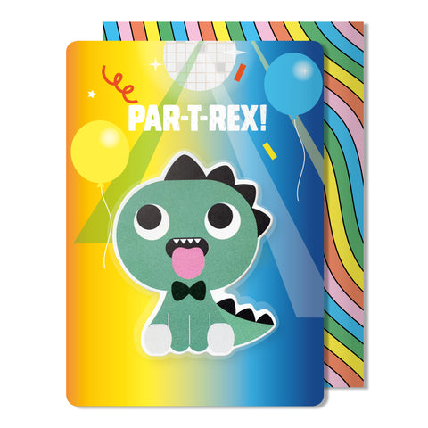 Dinosaur Puffy Sticker Birthday Card