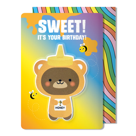 Bear Puffy Sticker Birthday Card