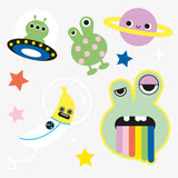 Alien temporary tattoo stocking fillers