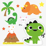 Dinosaur card | with temporary tattoos