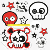 Skull card | with temporary tattoos