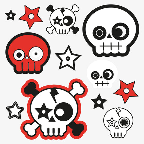 Skull temporary tattoo stocking fillers