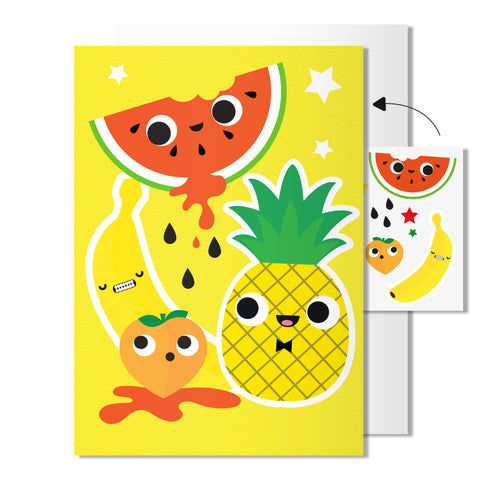 Fruit card | Includes sheet of transferable tattoos