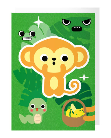 Monkey Tattoo Card