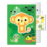 Monkey card | Includes sheet of transferable tattoos
