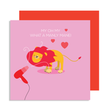 Valentines You're My Mane Man Card
