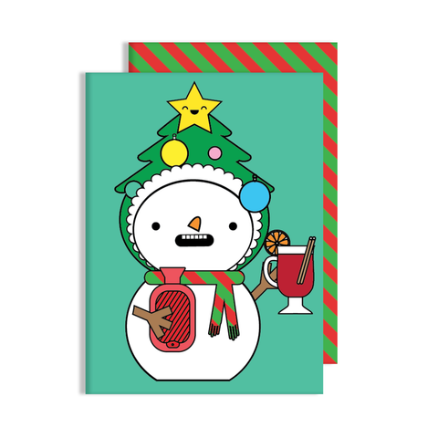 Snowman Tree Dress Up Card