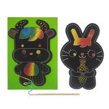 Scratch Art Rabbit Card