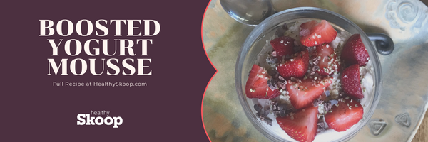 Boosted Yogurt Mousse With Berries and Seeds