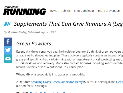 Running.Competitor.com - Supplements That Can Give Runners A (Legal) Boost