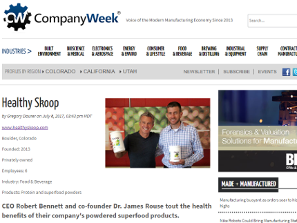 Company Week - CEO Robert Bennett and co-founder Dr. James Rouse
