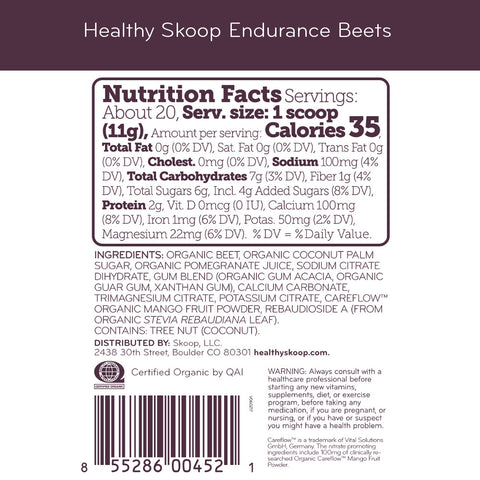 WS - Organic Endurance Beets with Electrolytes