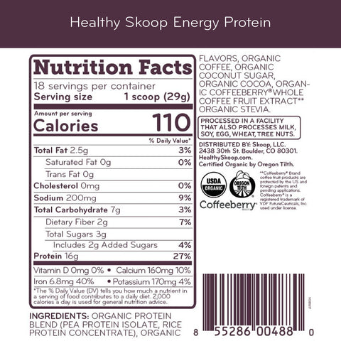 WS - Organic Energy Protein with Caffeine