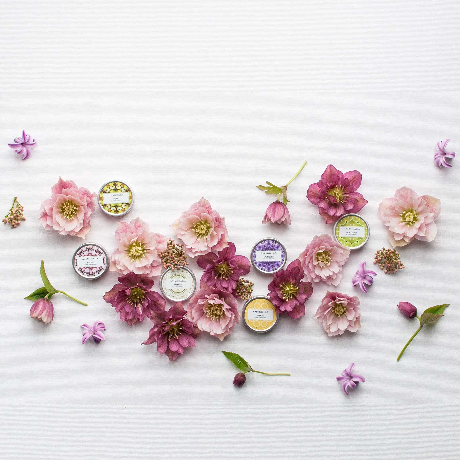 Solid perfumes spring flowers