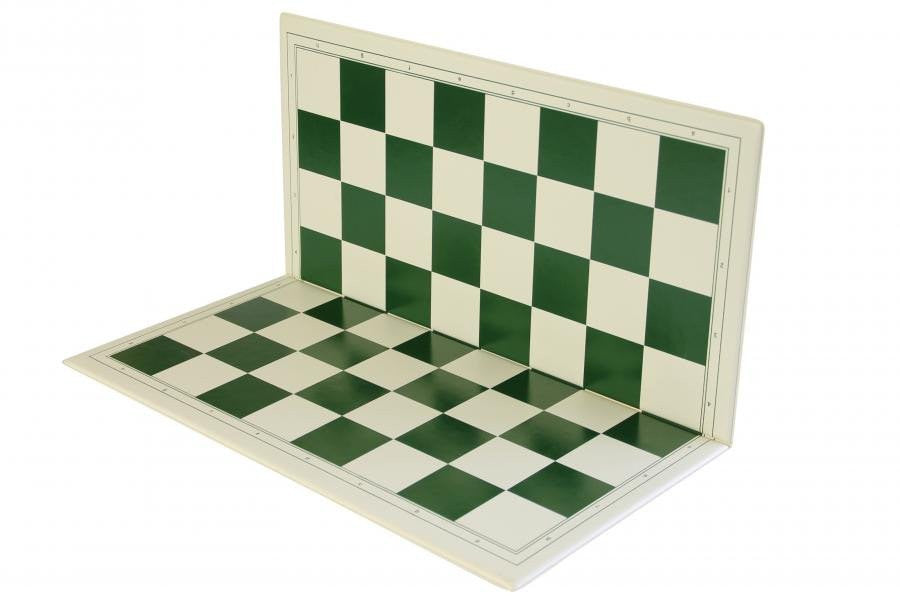 19 Inch Folding PVC Chess Board Green