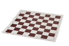Brown & White Roll Up Vinly Chessboard