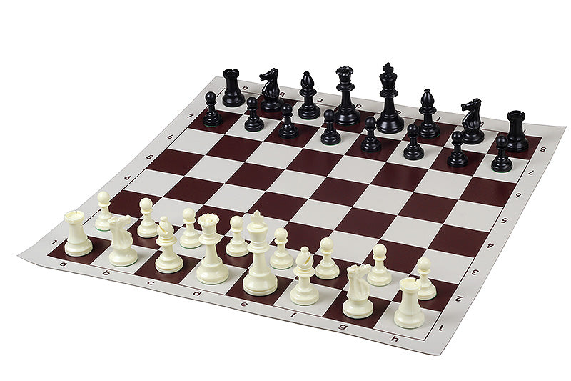 Club Tournament Chess Set Brown -95 mm King