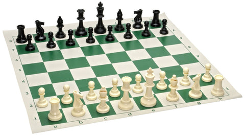 Club Tournament Chess Set Green 95 mm King for <span class=money>£8.00 GBP</span> at Chess4Schools