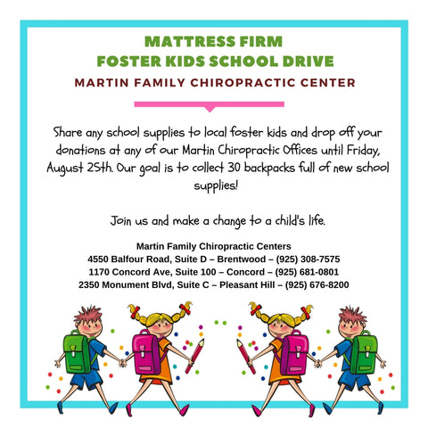 Mattress Firm Foster Kids School Drive