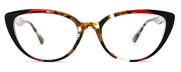 Etnia  Barcelona Barri Black Red Havana Cat Eye Plastic Frame