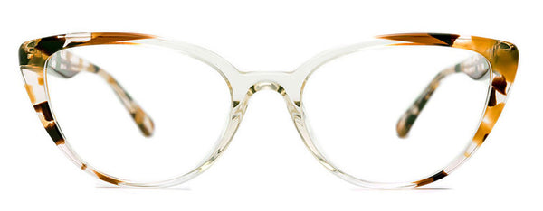 Etnia  Barcelona Barri Clear Havana Cat Eye Plastic Frame