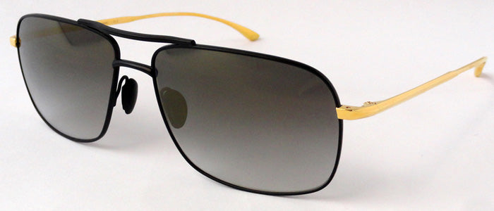 Masunaga 9004 SG Sunglasses Black Gold