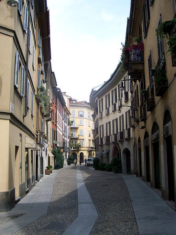 Brera District in Milan, Italy. Image source: Wikipedia
