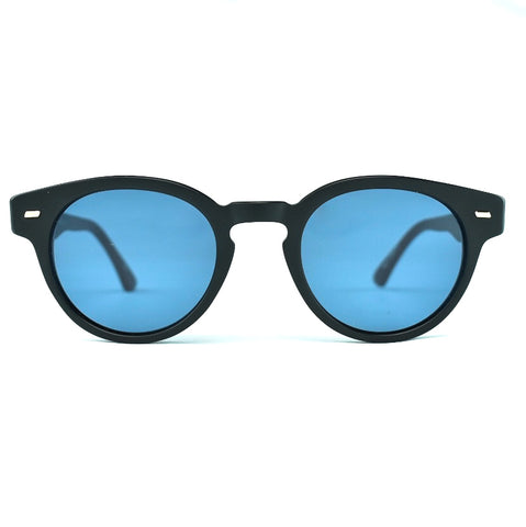 Masunaga 064 Sun Matte Black P3 Shaped Sunglass