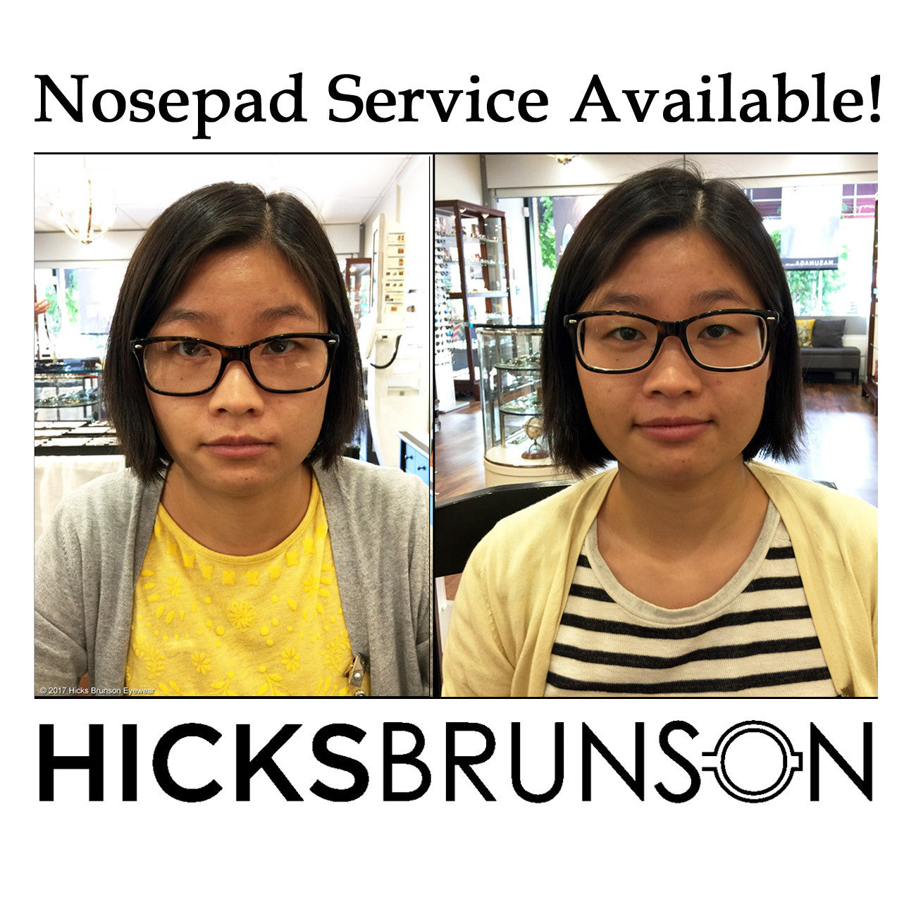 Hicks Brunson Eyewear Nosepad Service Available!