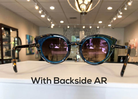 sunglasses with backside AR coating