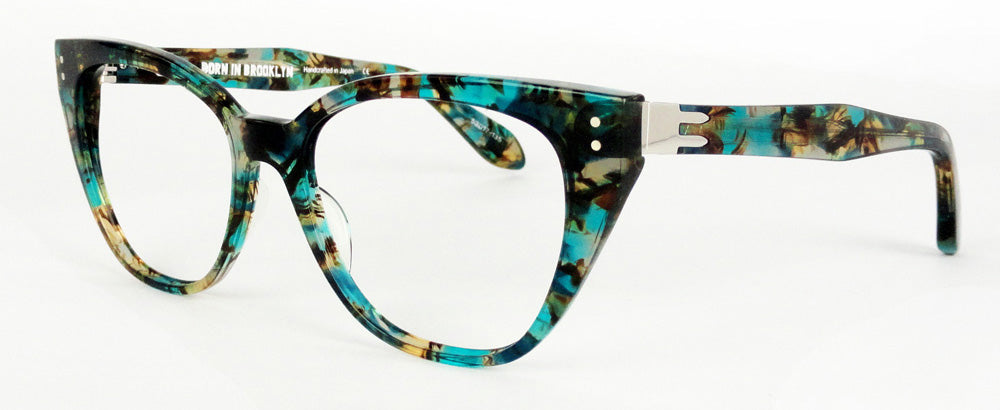 Born In Brooklyn - Sunset Park - Blue Green Collage - Eyeglasses