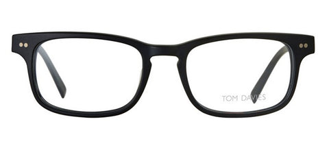 Hicks Brunson Eyewear Tom Davies TD421 Black Plastic Rectangle Glasses