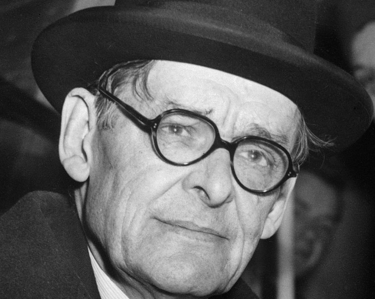 T.S. Eliot - Round Eyeglasses - Hat