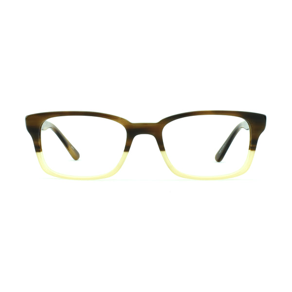 Masunaga - 032 - 63 - Brown/Yellow - Rectangular Eyeglasses