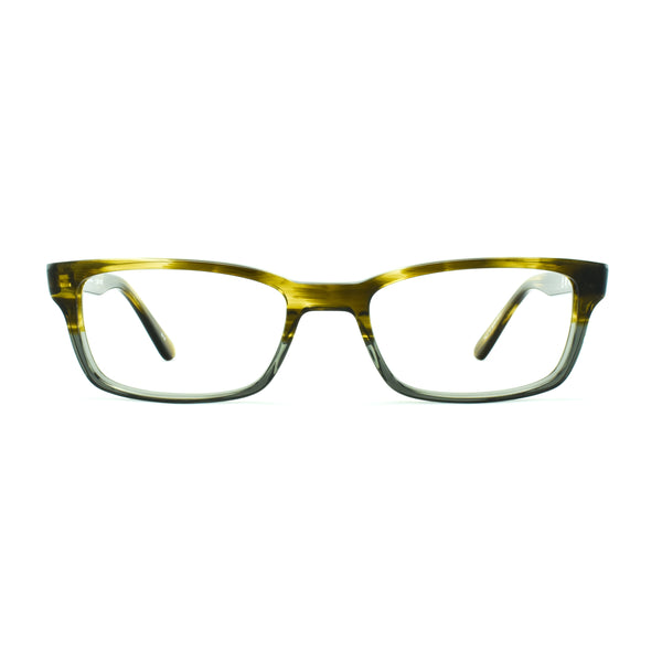 Masunaga - 033 - #83 - Olive / Grey - Rectangular Eyeglasses