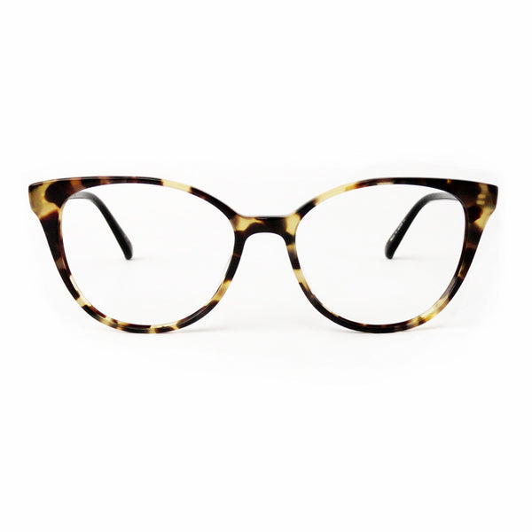 Masunaga 052 - Brown Tortoise - Large Round Cat Eye Shape - Plastic Acetate Frame - Opthalmic
