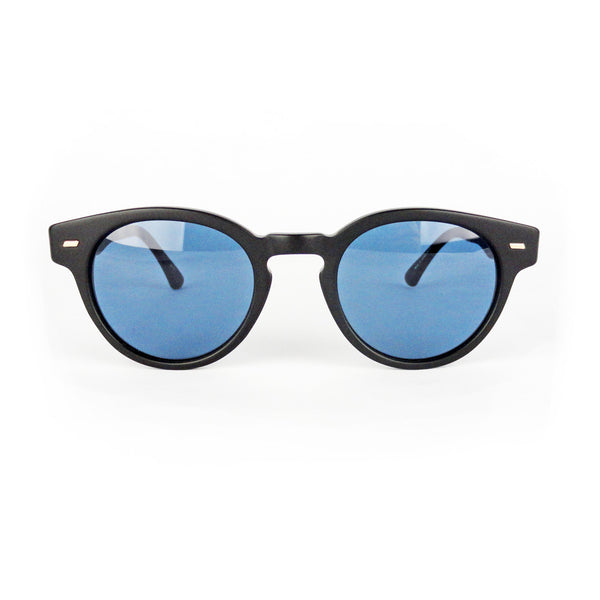 Masunaga - 064 - S19 - Matte Black - Sunglasses - Round - Hicks Brunson Eyewear